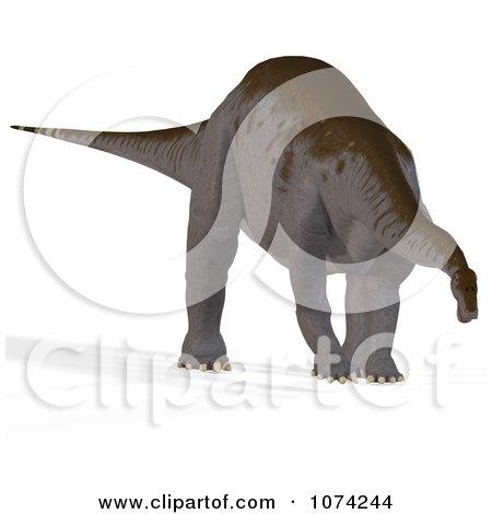 Clipart 3d Prehistoric Apatosaurus Dinosaur 2 - Royalty Free CGI Illustration by Ralf61