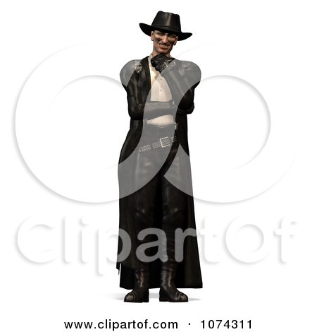 Clipart 3d Steam Punk Man In Leather 2 - Royalty Free CGI Illustration by Ralf61