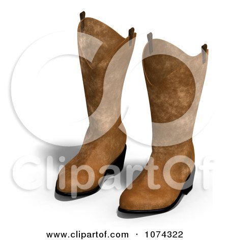 Clipart 3d Pair Of Leather Cowboy Boots - Royalty Free CGI Illustration by Ralf61