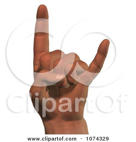 Clipart 3d Hang Loose Hand - Royalty Free CGI Illustration by Ralf61