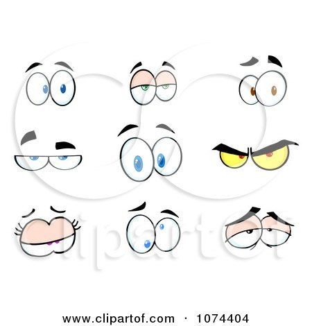 Clipart Expressional Eyes - Royalty Free Vector Illustration by Hit Toon