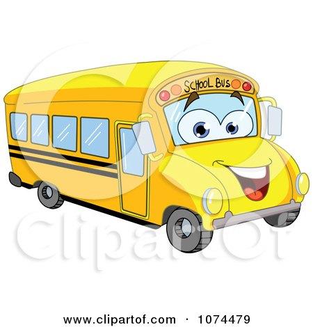 Friendly School Bus Posters, Art Prints