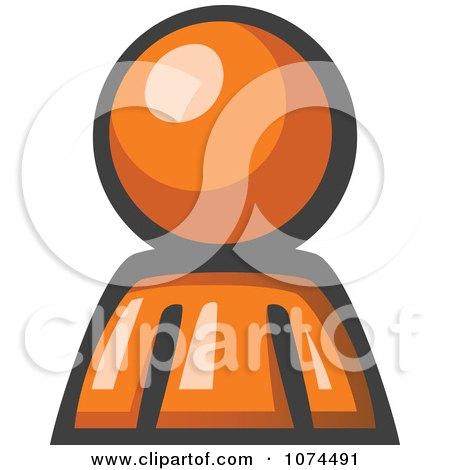 Clipart Orange Man Avatar - Royalty Free Illustration by Leo Blanchette
