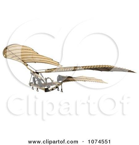 Clipart 3d Ornithopter Da Vinci Flier 2 - Royalty Free CGI Illustration by Leo Blanchette