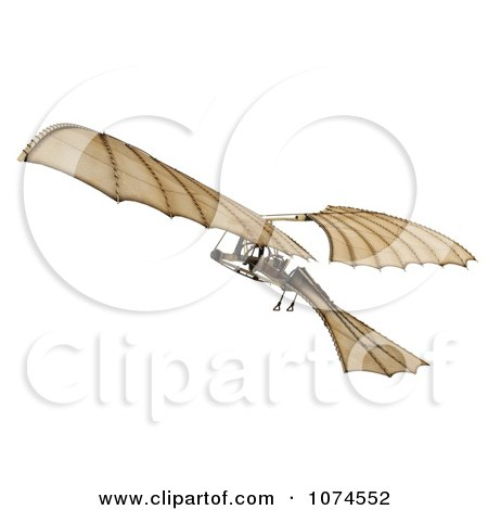 Clipart 3d Ornithopter Da Vinci Flier 3 - Royalty Free CGI Illustration by Leo Blanchette