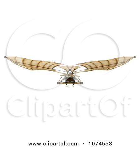 Clipart 3d Ornithopter Da Vinci Flier 4 - Royalty Free CGI Illustration by Leo Blanchette