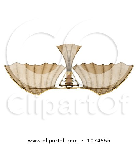 Clipart 3d Ornithopter Da Vinci Flier 6 - Royalty Free CGI Illustration by Leo Blanchette