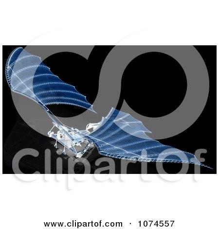 Clipart 3d Ornithopter Da Vinci Flier Blueprints - Royalty Free CGI Illustration by Leo Blanchette
