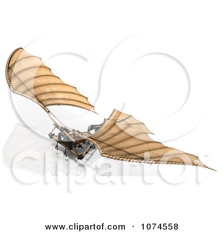 Clipart 3d Ornithopter Da Vinci Flier 1 - Royalty Free CGI Illustration by Leo Blanchette