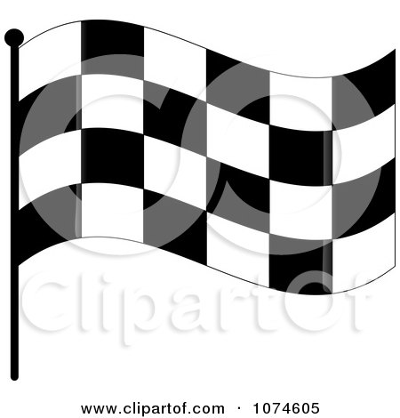 Clipart Waving Checkered Race Flag 1 - Royalty Free Vector Illustration by Pams Clipart