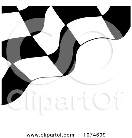 Clipart Checkered Racing Flag On White - Royalty Free Vector Illustration by Pams Clipart