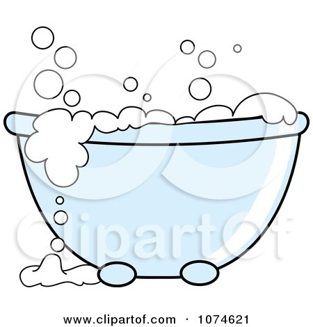 clipart tub with sudsy white bubble bath royalty free vector rh clipartof com dog bubble bath clipart woman in bubble bath clipart