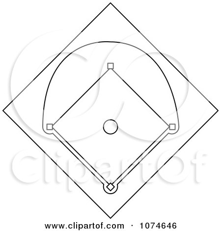 baseball diamond coloring pages - royalty free stock illustrations of coloring pages by pams