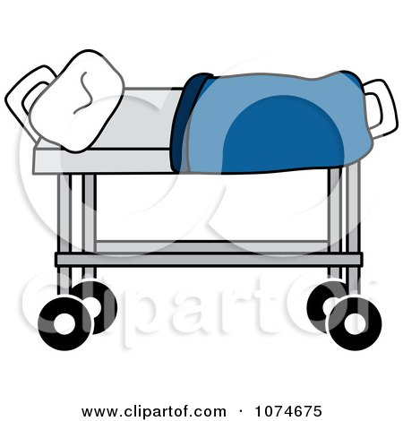 Clipart Hospital Gurney And Pillow - Royalty Free Vector ...