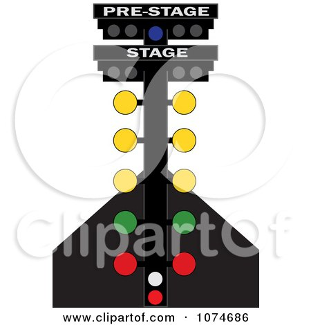 Clipart Racing Lights On A Track - Royalty Free Vector Illustration by Pams Clipart