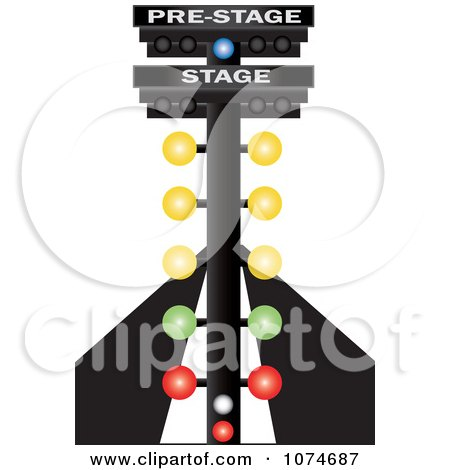Auto Purchase Racing on Clipart Auto Racing Lights On A Track   Royalty Free Vector