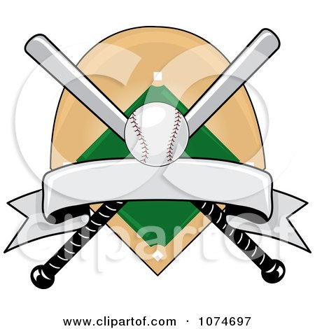 clipart baseball bat banner field and ball logo 3 royalty free rh clipartof com Big Barrel Baseball Bats Baseball Bat Template