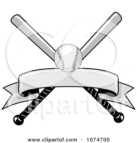 clipart baseball bat and ball logo 2   royalty free vector
