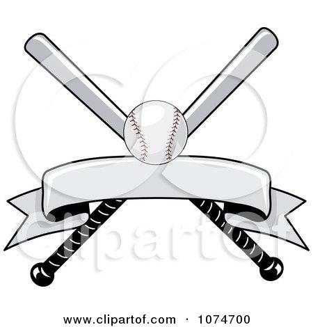 Clipart Baseball Bat And Ball Logo 2 - Royalty Free Vector Illustration by Pams Clipart