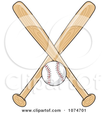 Clipart Baseball Bat And Ball Logo 1 - Royalty Free Vector ...