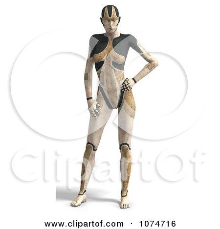 Clipart 3d Tan Cyborg Woman - Royalty Free CGI Illustration by Ralf61
