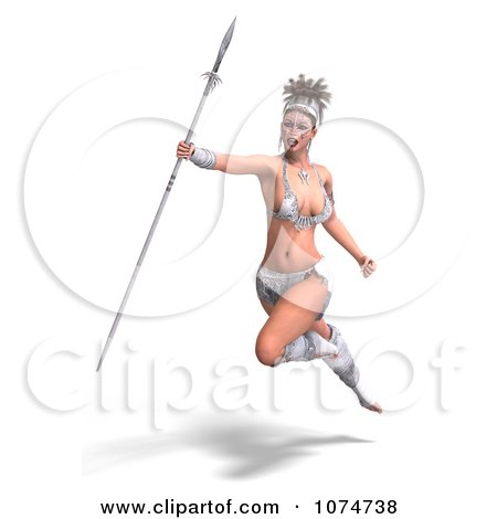 Clipart 3d Medieval Fantasy Warrior Princess Fighting With A Sword ...