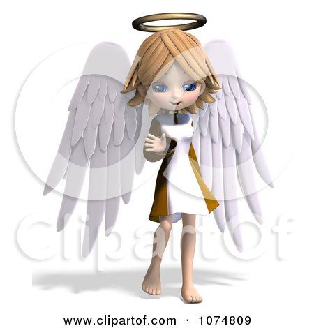 Girl Waving GIF http://www.clipartof.com/interior_wall_decor/details/3d-Cute-Angel-Girl-Waving-Poster-Art-Print-1074809