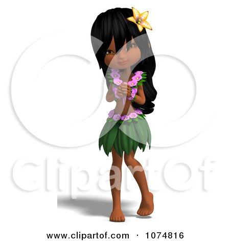 3d Hula Dancer Girl 9 Posters, Art Prints