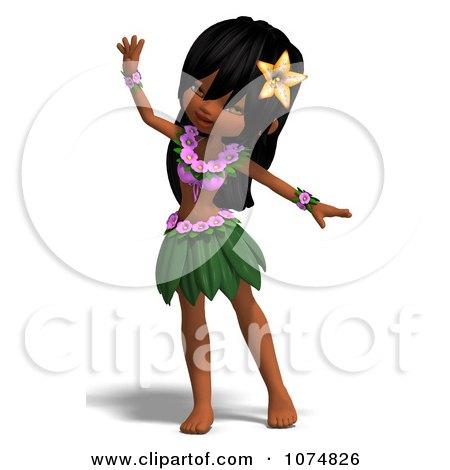 Clipart 3d Hula Dancer Girl 1 - Royalty Free CGI Illustration by Ralf61
