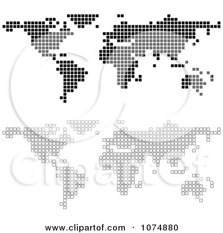 Clipart black and white squares forming world atlas maps royalty clipart black and white squares forming world atlas maps royalty free vector illustration by dero gumiabroncs Choice Image