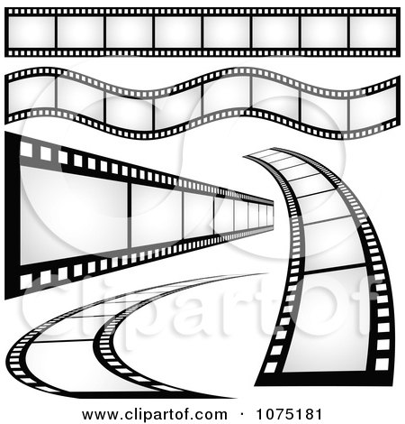 Clipart Film Strip Borders And Design Elements - Royalty Free ...