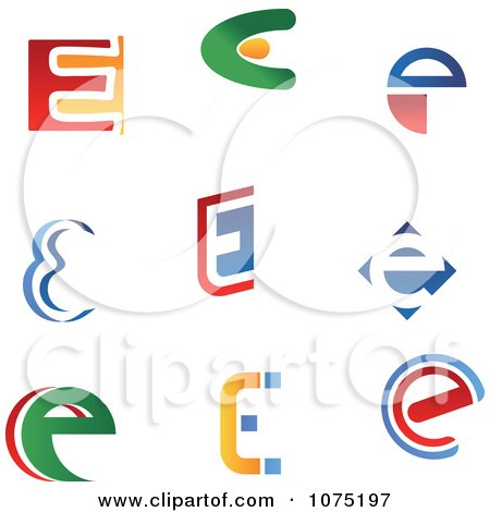 Royalty-Free (RF) Clipart of E Logos, Illustrations, Vector ...