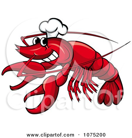 Clipart Seafood Lobster Chef Logo - Royalty Free Vector Illustration by Vector Tradition SM