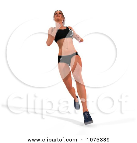 Clipart 3d Health Fit And Strong Athletic Woman Running 2 - Royalty Free CGI Illustration by Ralf61