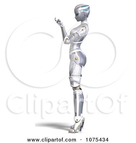 Futuristic Robot Drawings Sci fi Robot Beckoning