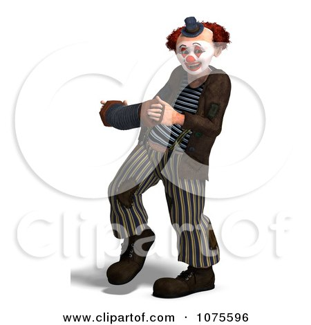 Clipart 3d Clown With An Accordion 3 - Royalty Free CGI Illustration by Ralf61