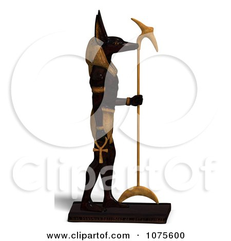 Clipart 3d Anubis Statue Facing Right - Royalty Free CGI Illustration by Ralf61