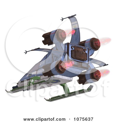 Clipart 3d Robot Spaceship 8 - Royalty Free CGI Illustration by Ralf61