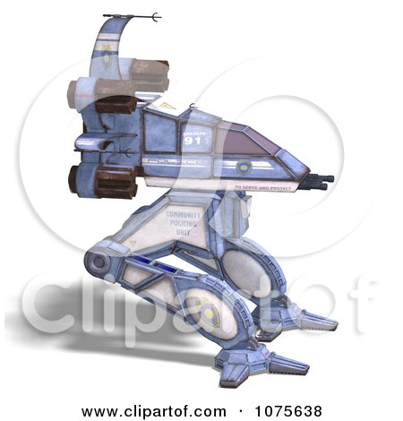 Clipart 3d Robot Spaceship 7 - Royalty Free CGI Illustration by Ralf61
