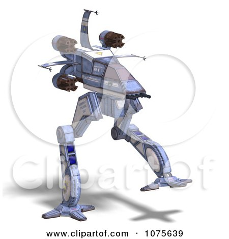 Clipart 3d Robot Spaceship 5 - Royalty Free CGI Illustration by Ralf61