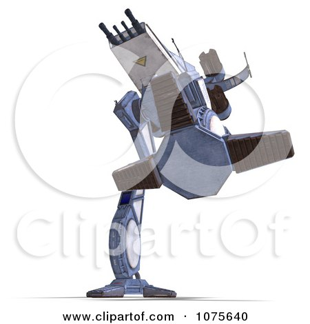 Clipart 3d Robot Spaceship 6 - Royalty Free CGI Illustration by Ralf61
