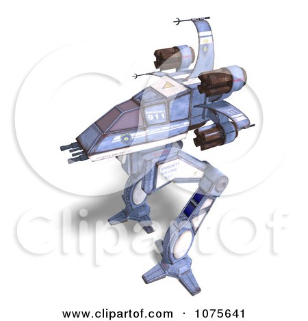 Clipart 3d Robot Spaceship 4 - Royalty Free CGI Illustration by Ralf61