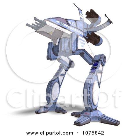 Clipart 3d Robot Spaceship 3 - Royalty Free CGI Illustration by Ralf61