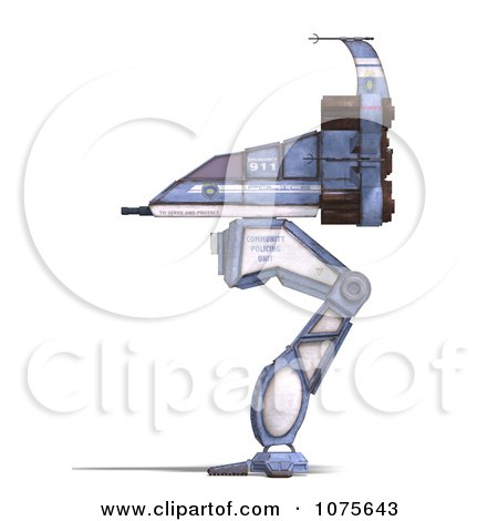 Clipart 3d Robot Spaceship 2 - Royalty Free CGI Illustration by Ralf61