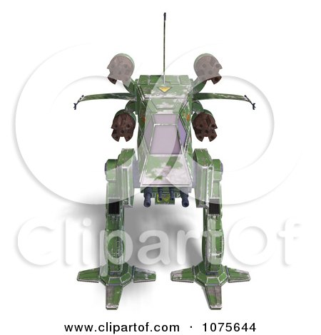 Clipart 3d Robot Spaceship 1 - Royalty Free CGI Illustration by Ralf61