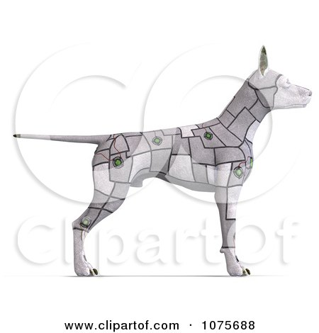 Clipart 3d Cyber Computer Dog - Royalty Free CGI Illustration by Ralf61
