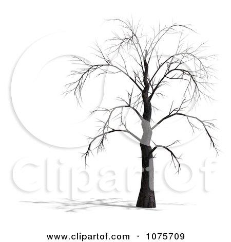 Clipart 3d Creepy Bare Tree 5 Royalty Free Cgi Illustration By