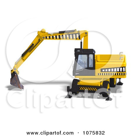 3d Earth Mover Excavator 5 Posters, Art Prints