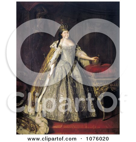 Queen Duchess and Empress of Russia, Anna Ivanovna, Anna of Russia - Royalty Free Historical Clip Art by JVPD