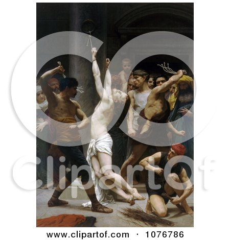 The Flagellation of Our Lord Jesus Christ, by William-Adolphe Bouguereau - Royalty Free Historical Clip Art  by JVPD